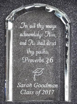 Personalized, Crystal Tablet Plaque, Graduation    -