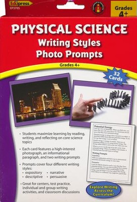 Physical Science Writing Styles Photo Prompts Gr. 4+  -