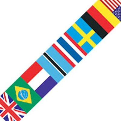 International Flag Spotlight Border  -