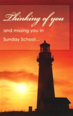 Missing You-Sunday School, Postcards, 25    -