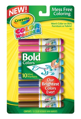 Crayola, Color Wonder Mini Markers, Bold Colors, 10 Pieces  -