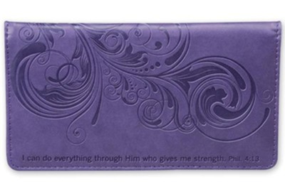 I Can Do Everything Checkbook Cover, Purple  -
