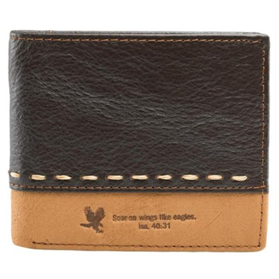 On Wings Like Eagles - Leather Wallet  -