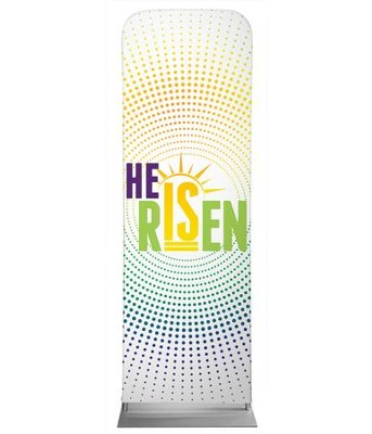 He Is Risen Dots 2' x 6' Fabric Sleeve Banner  -