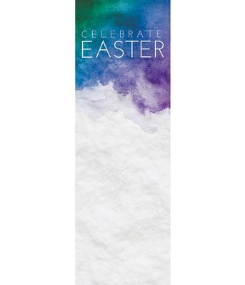 Celebrate Watercolor Easter (2' x 6') Vinyl Banner  -