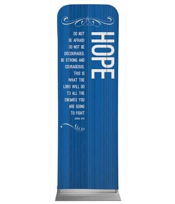 Painted Wood Hope 2' x 6' Fabric Sleeve Banner  -