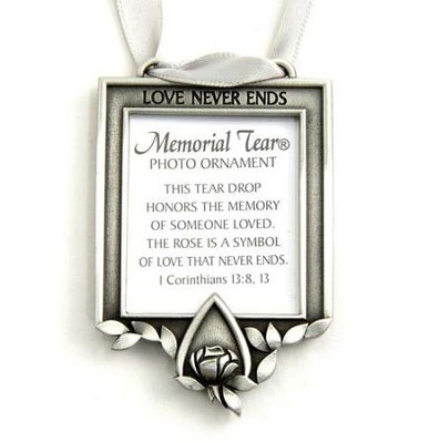 Memorial Tear Photo Ornament   -     By: Kathy Bernu