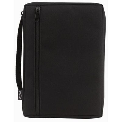 Canvas Bible Cover, Solid Black, Small   -