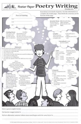 Poster Paper: Poetry Writing, Grades 4-6  (Pack of 30)  -
