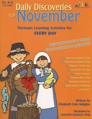 Daily Discoveries for November, Grades K-6   -     By: Elizabeth Cole Midgley