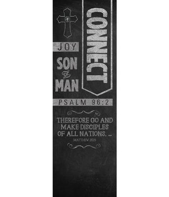 Chalkboard Art Connect (2' x 6') Vinyl Banner  -