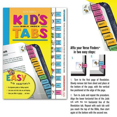 Kids Horizontal Bible Tabs  -