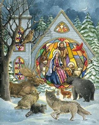 Church Windows: Greeting Card Advent Calendar  -