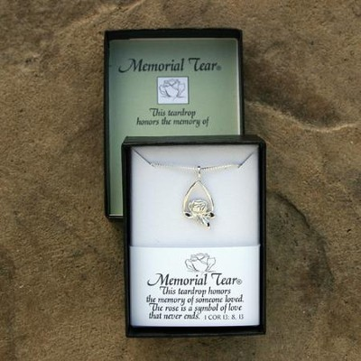Memorial Tear Sterling Silver Open Pendant   -     By: Kathy Bernu