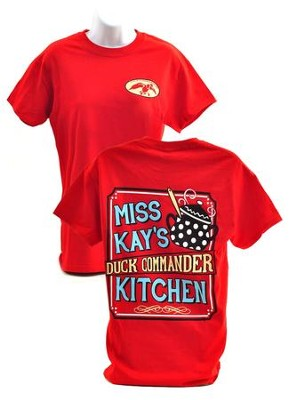 Miss Kay's Kitchen Shirt, Red, Small   -