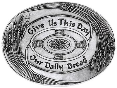Give Us This Day--Handcast Metal Tray   -