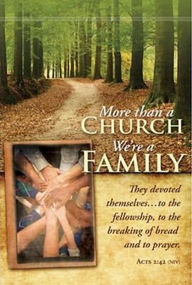More Than a Church, We're a Family (Acts 2:42, NIV) Welcome Folders, 12  -