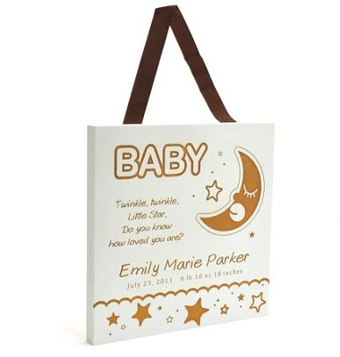 Personalized, Baby - Gift from God Plaque, White   -