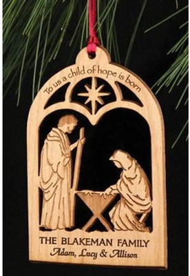 Personalized Nativity Ornament   -