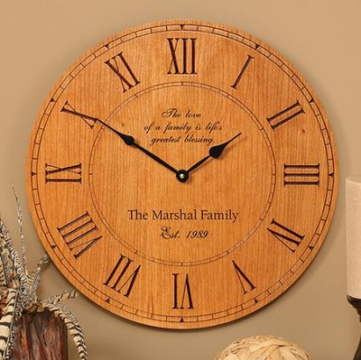 Personalized, Love Of Family Wall Clock  -