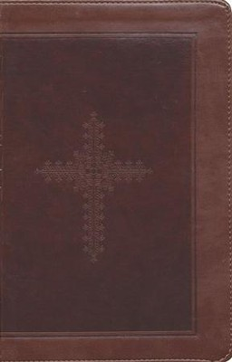 KJV Personal Size Giant Print End of Verse Reference Bible, Imitation leather, chocolate--indexed  -