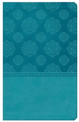 NKJV Center Column Reference Bible, Imitation leather, turquoise--indexed  -