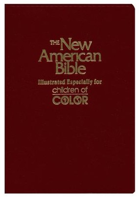 NAB Children of Color Bible, Imitaton Leather, Burgundy   -     By: Bible