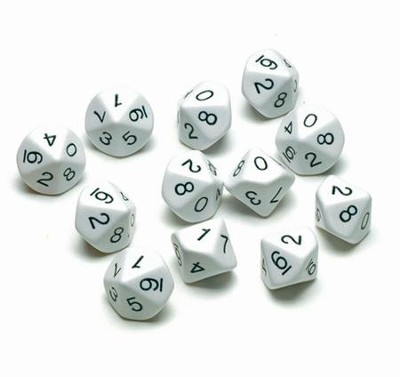 10-Sided Polyhedra Dice  -