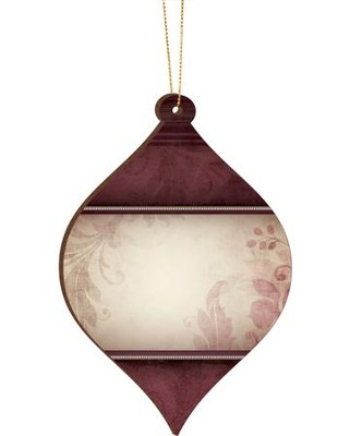 Blank, Bulb Ornament, Red, Clearance   -