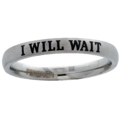 I Will Wait Purity Ring, Size 8  -