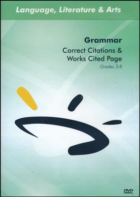 How to Correct Citations & Works Cited Page DVD  -