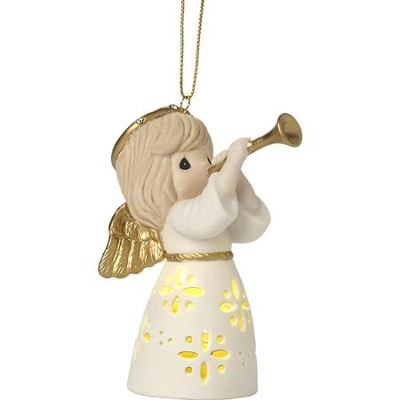 LED Angel With Trumpet Ornament  -