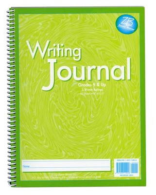 Zaner-Bloser My Writing Journal, Liquid Green Grades 4+  -