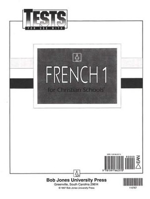 BJU Tests--French 1   -