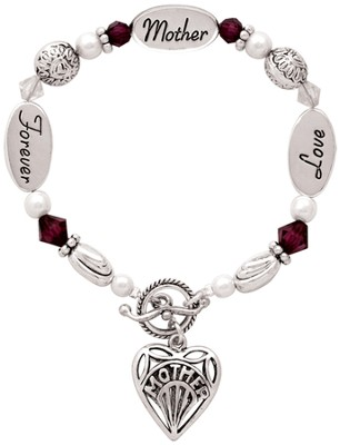 Love, Mother, Forever Bracelet   -