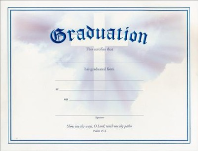 Graduation Certificates Psalm    ChristianbookCom