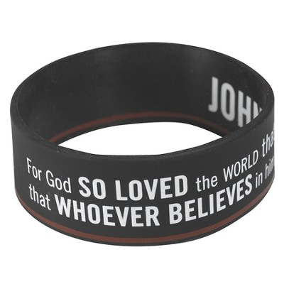 Witness Gear Wristband John 3:16, Black  -