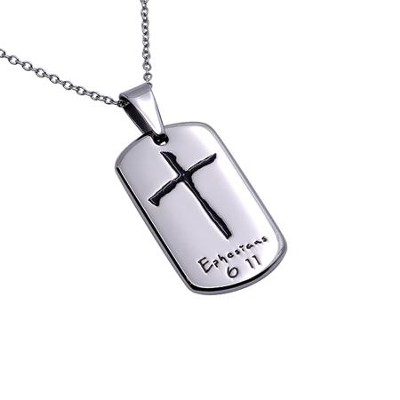Armor of God, Cross Soft Tag Necklace   -