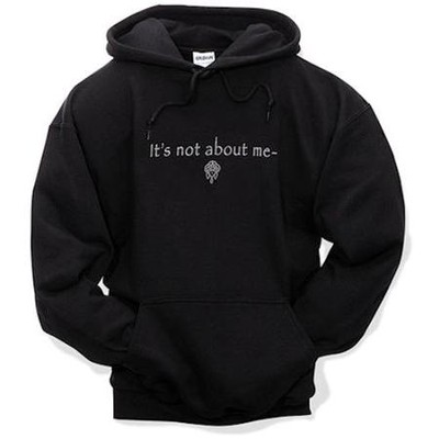 It's All About Him, Hooded Sweatshirt, Black, Small   -