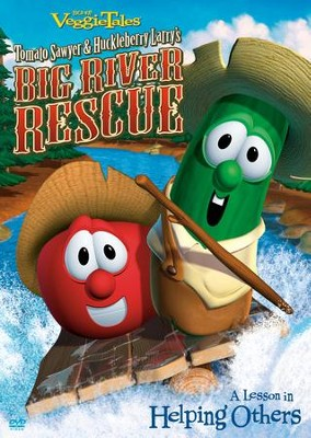 Tomato Sawyer and Huckleberry Larry's Big River Rescue,  VeggieTales DVD  -