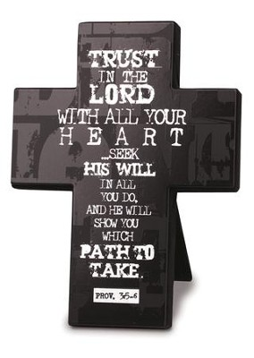Trust in the Lord Cross, Black   -