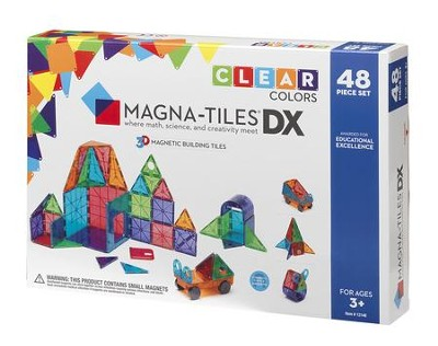MAGNA-TILES, 48 Piece DX Set, Clear  -