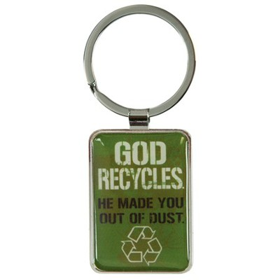 God Recycles Keyring  -