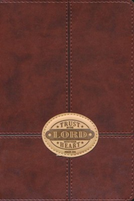 Trust In the Lord Lux-Leather Journal, Brown Patch  -