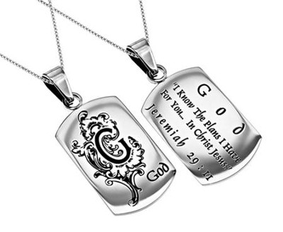 God I Know, Letter Dog Tag   -
