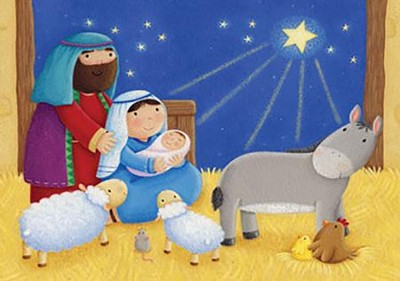 Baby in a Manger Advent Calendar  -