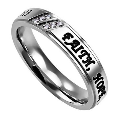 Faith, Hope, Love, Luxury Ring, Size 7   -