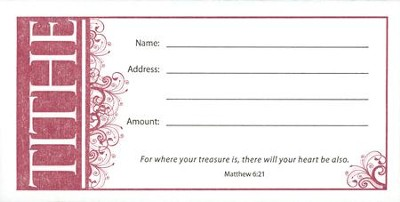 Tithe (Matthew 6:21), Offering Envelopes, 100  -