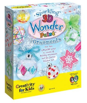 Sparkling 3-D Wonder Paint Ornaments   -
