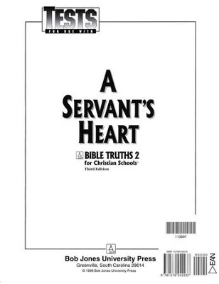Bible Truths 2: A Servant's Heart, Tests   -